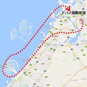 地図_飛行機_Dubai